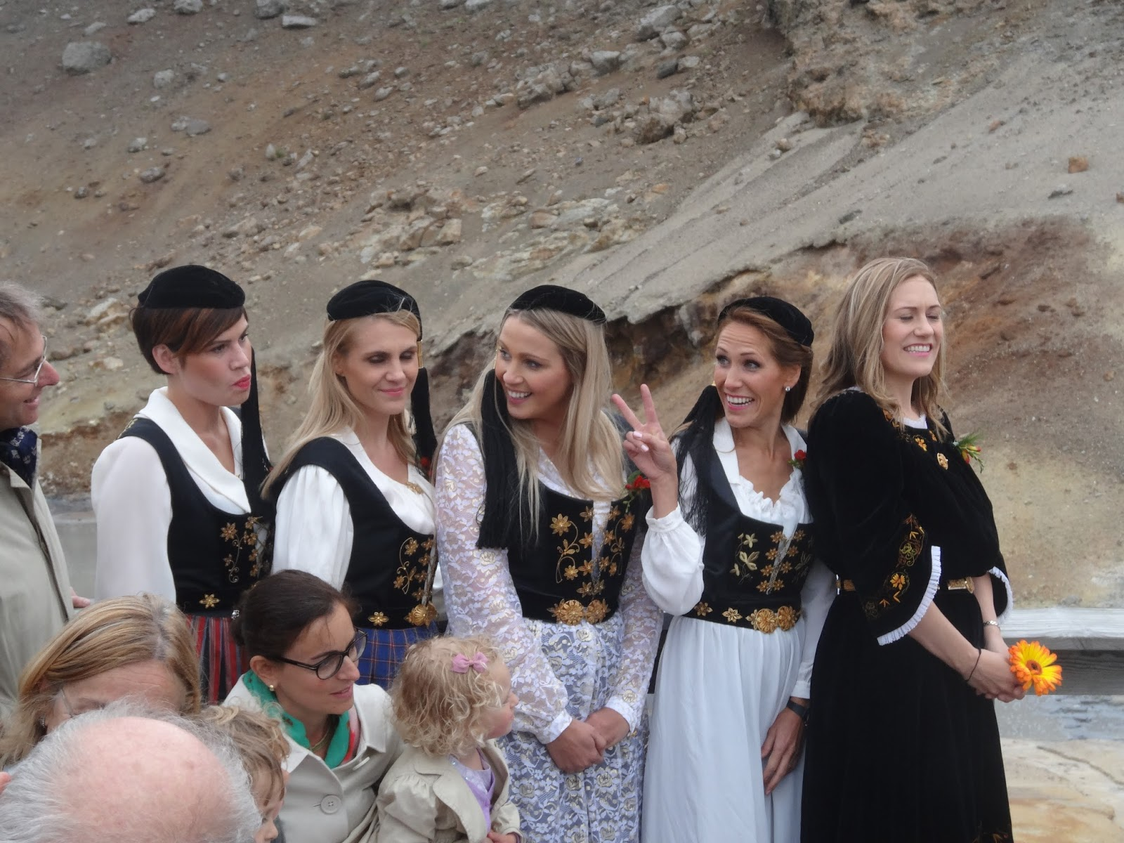 The Bridesmaids In Traditional Icelandic Dresses Were Not Cold