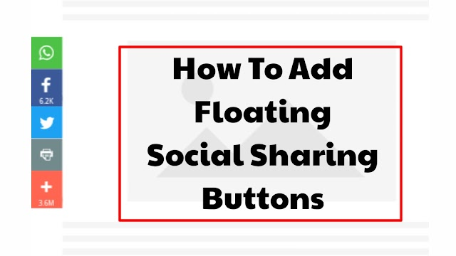 How to add Social sharing floating buttons to Blog or website