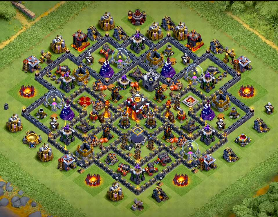 clash of clans th10 farming base