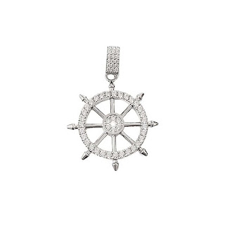 Dây chuyền kim cương nam hình bánh lái tàu