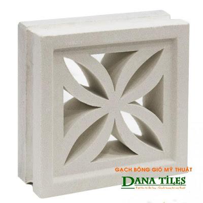 Gạch bông gió mỹ thuật Danatiles D-04 trắng