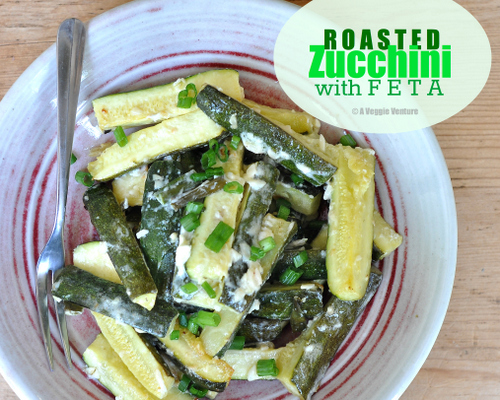 Roasted Zucchini with Feta, another simple healthy vegetable recipe ♥ A Veggie Venture