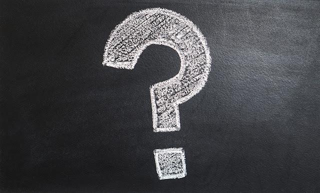question mark black board chalk