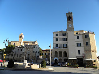 The Piazza Tarsetti, main square of Morro d'Alba, where Cucchi grew up before moving to Rome