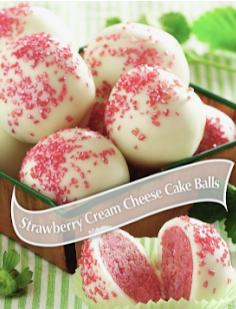 STRAWBERRY CREAM CHEESE CAKE BALLS