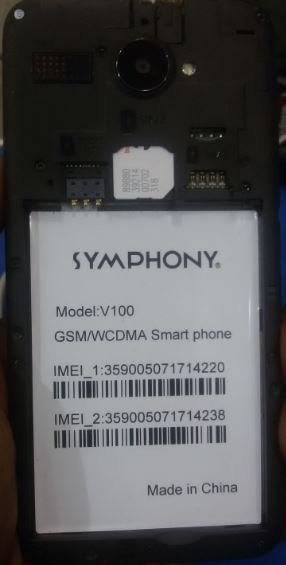 Symphony V100 HW2_V10 Stock Rom Flash File Dead After Flash