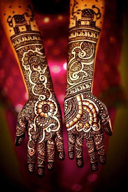 Indian Mehndi Designs With Shade