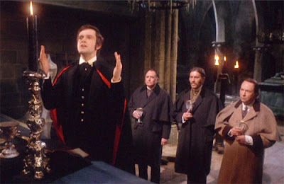 Ralph Bates leads the Black Mass in Taste the Blood of Dracula (1970)