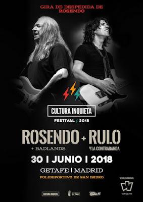 Rosendo estará en Cultura Inquieta 2018