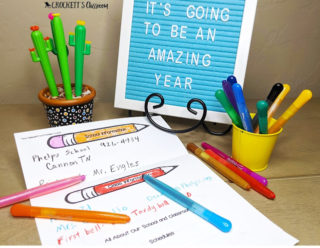 This editable flip book is just what you need for the first week of school.