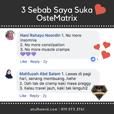 Testimoni OsteMatrix: 3 sebab Kenapa Suka Dengan OsteMatrix