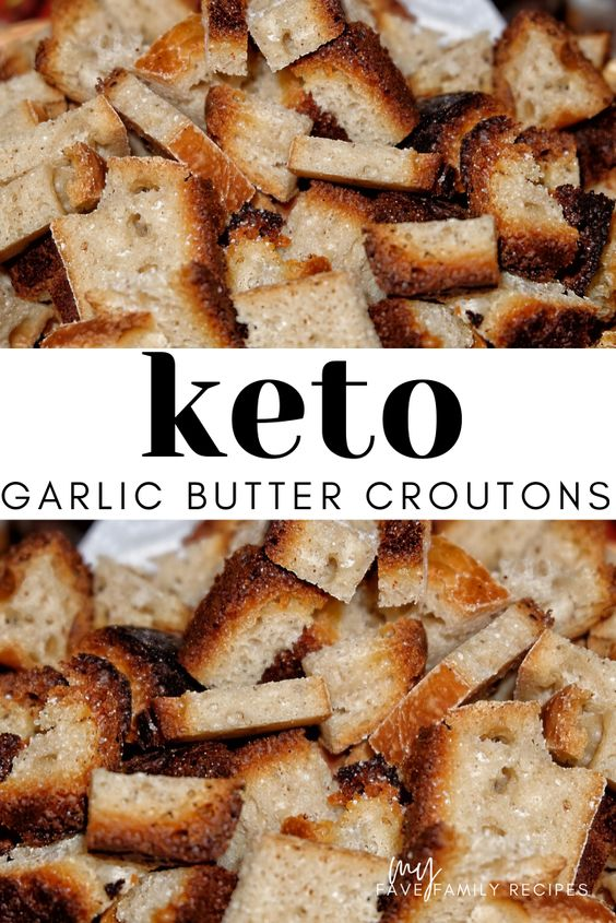 Keto Low Carb Garlic Butter Croutons