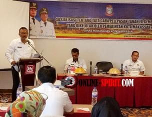 Pemkot Makassar,Gelar Sosialisasi Pelepasan Tanah Ex Gemeente