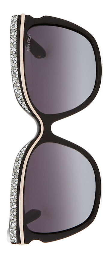 Jimmy Choo Sophia Embellished Sunglasses, Black