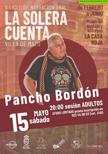 Pancho Bordón protagonizará este sábado una nueva sesión de narrativa oral de 'La Solera Cuenta'