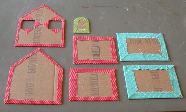 kartondan maket ev yapımı resimli anlatım