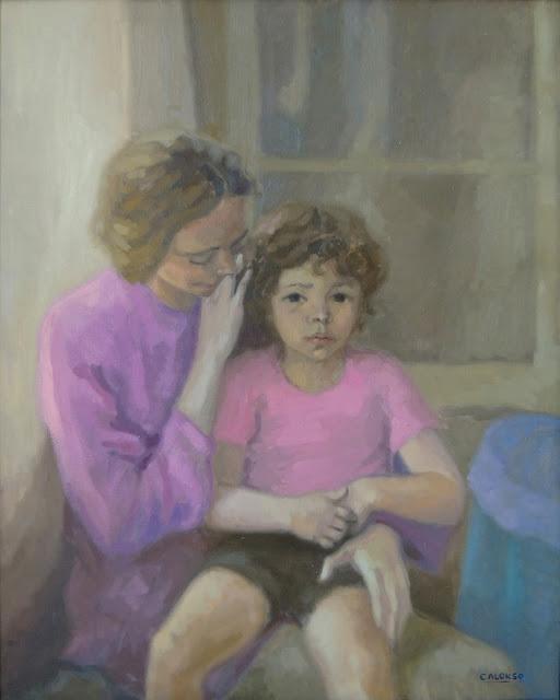 Cristina Alonso madre hija maternidad pintura impresionista