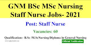 60 GNM BSc MSc Nursing Vacancies- Governemnt of Andhra Pradesh