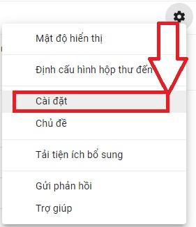 Cài đặt thiết lập tính năng chuyển tiếp POP/IMAP từ Gmail