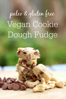 Healthy Vegan Cookie Dough Fudge Recipe