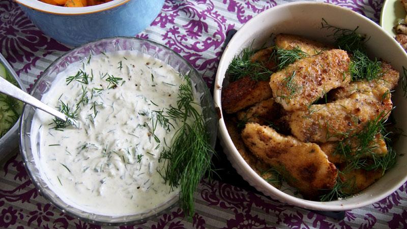 Tzatziki kastike kalalle ja kasviksille