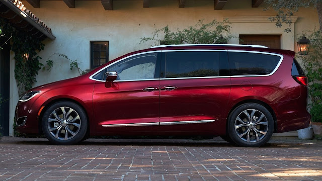 2017 Chrysler Pacifica red