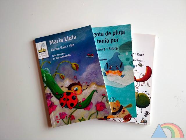 Portada de algunos libros de la colección de El Barco de Vapor serie blanca