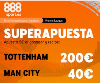 888sport superapuesta premier league Tottenham vs City 2 febrero 2020