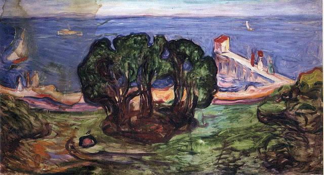 Эдвард Мунк - Деревья на берегу. 1904