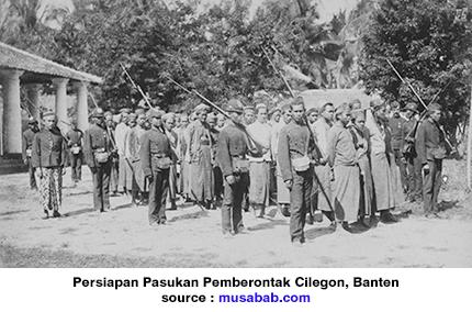 Letusan Gunung Krakatau dan Geger Cilegon, Pertempuran Cilegon yang diawali oleh Letusan Gunung, Kesengsaraan rakyat Cilegon akibat Letusan Gunung Krakatau, Pertempuran Rakyat Cilegon 1888 diakibatkan dari penderitaan akibat Letusan Gunung Krakatau 1883.