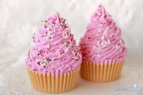 Jabon Cupcake Remolino Rosa