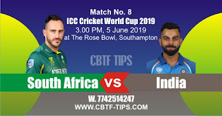 2019 World Cup Match Prediction Tips by Experts IND vs SA