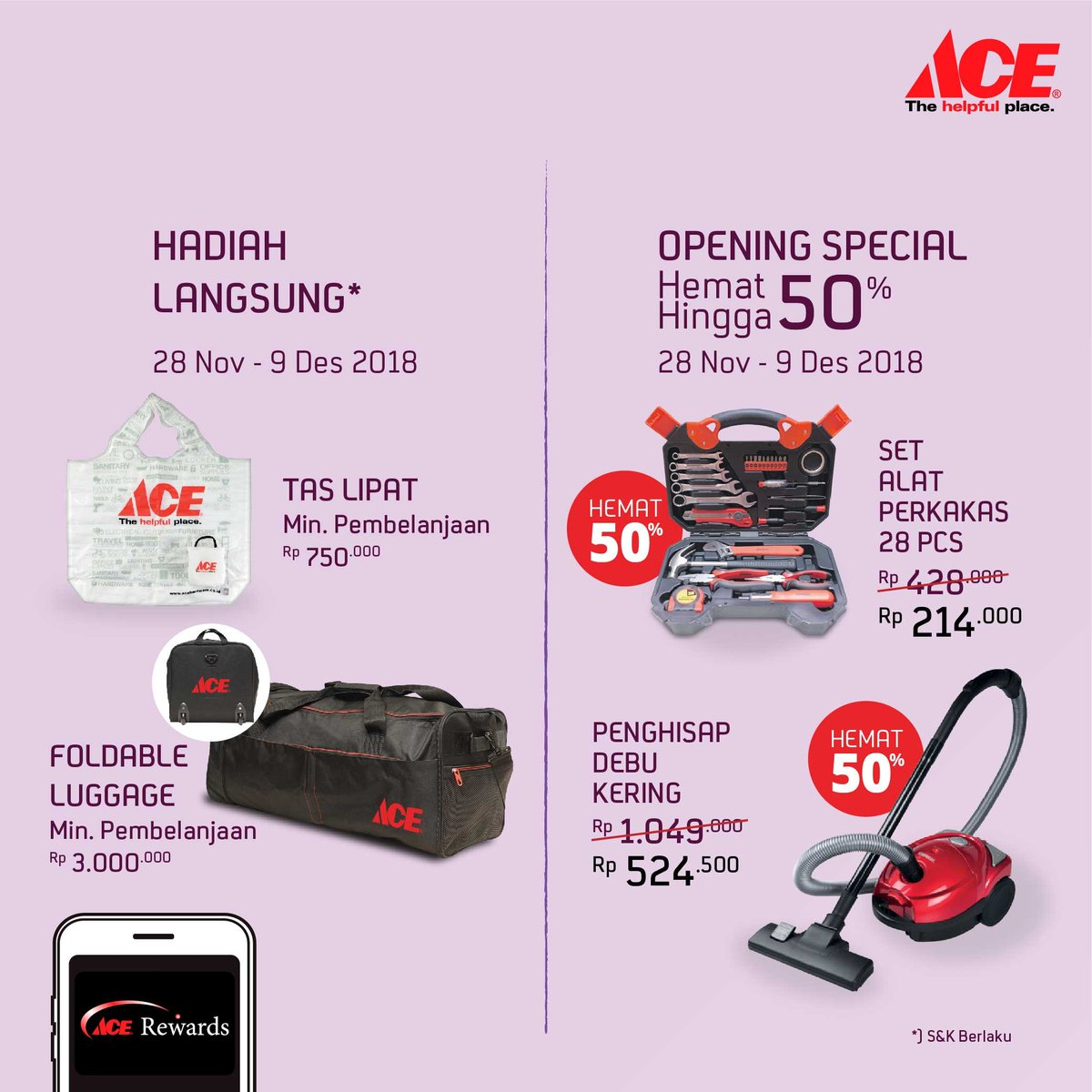 AceHardware - Promo Diskon & Hadiah Langsung di Opening Opi Mall Banyu Asin