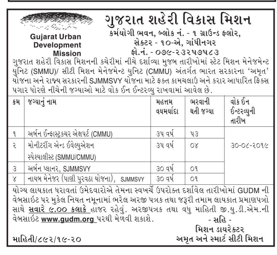 GUDM Recruitment