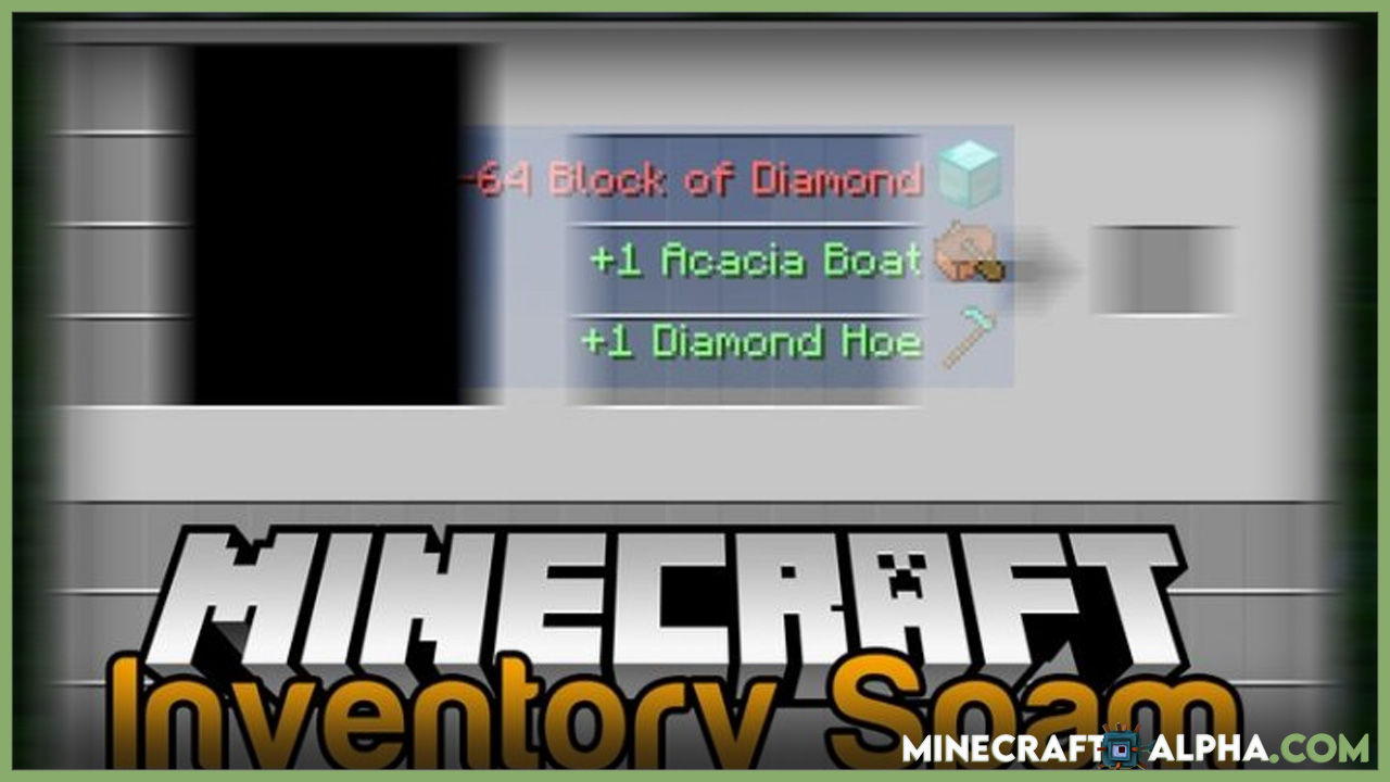 Inventory Spam Mod 1.17.1 (Show Items Added/Removed from Inventory)
