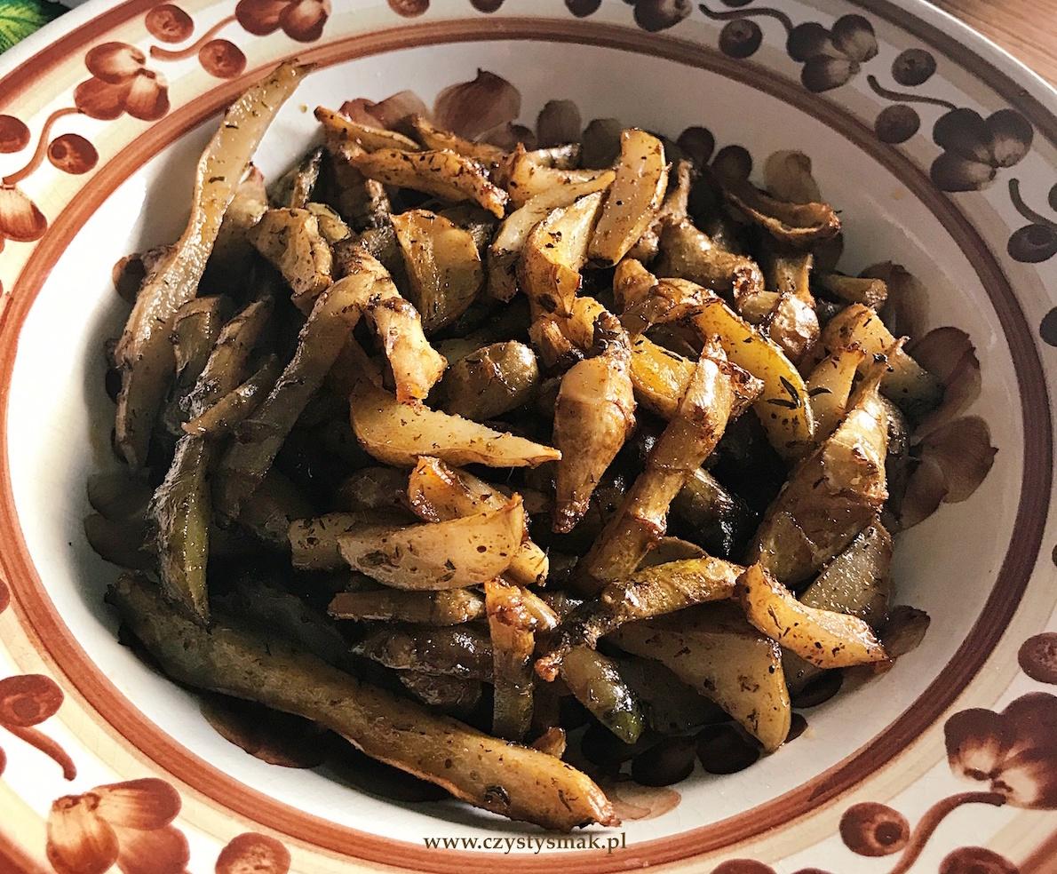 Pieczone frytki z topinamburu