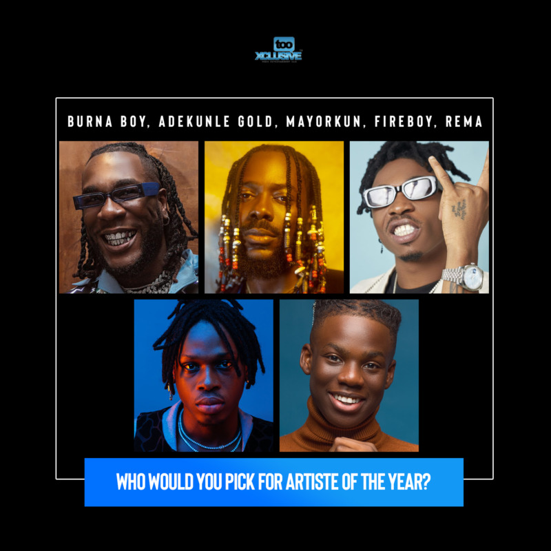 Who Has Been The Best Artiste Of 2020, So Far?… Burna, Adekunle, Mayorkun, Fireboy Or Rema? #Arewapublisize