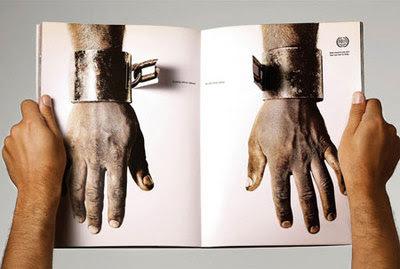 diseño gráfico de anuncio de Revista creativo