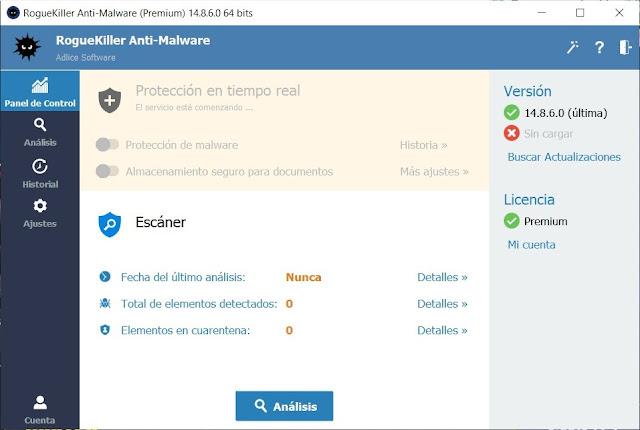 RogueKiller Anti Malware Premium Descargar