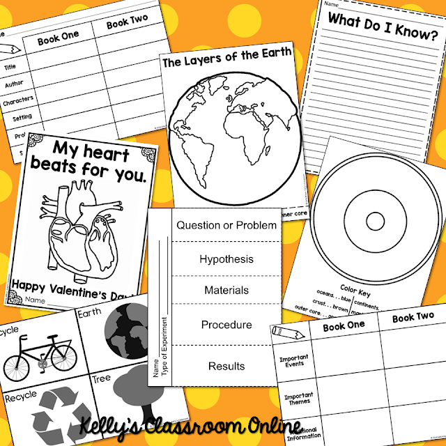 Free Printables by Kelly's Classroom Online