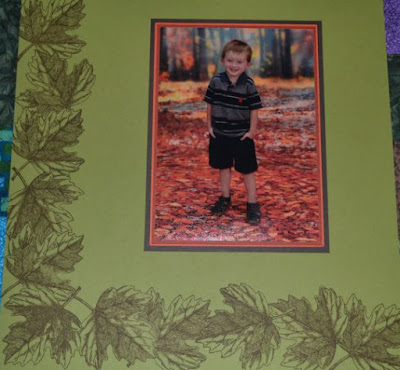 Vintage Leaves stamp set, fall scrapbook page, Trude Thoman, Stampin' Up!