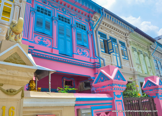 Colorful Peranakan homes in Katong
