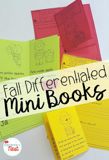 differentiated reading mini books- September Activities and primary resources plus three FREEBIES- fun ELA, math, and social studies activities for students during the month of September