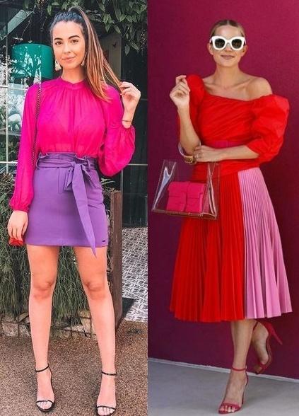 12 Looks com color block, Bianca Camargo, Blair Eadie