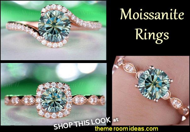 Moissanite Rings Engagement Rings womens rings diamond rings gemstone rings wedding rings