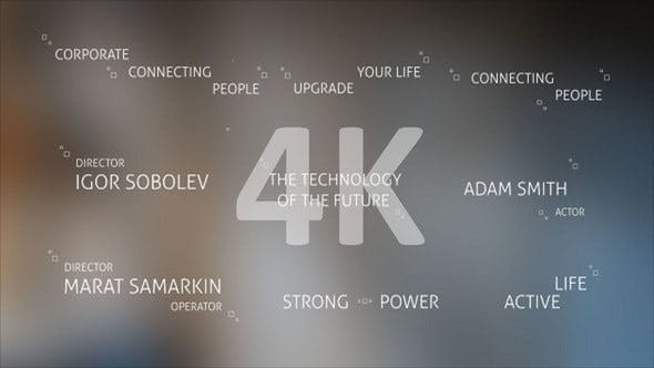 Videohive - Technology Titles and Alphabet 4K - 21309494