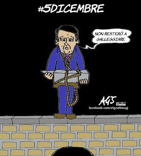 renzi, referendum costituzionale, 4 dicembre, galleggiare, satira, vignetta