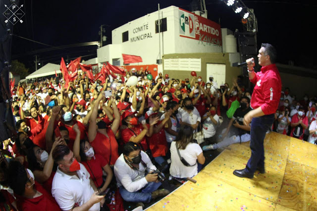Candidatos del PRI tienen la experiencia y la capacidad para transformar a Yucatán: Alejandro Moreno