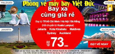 Vé máy bay khuyến mãi Air Asia bay xa cùng giá rẻ