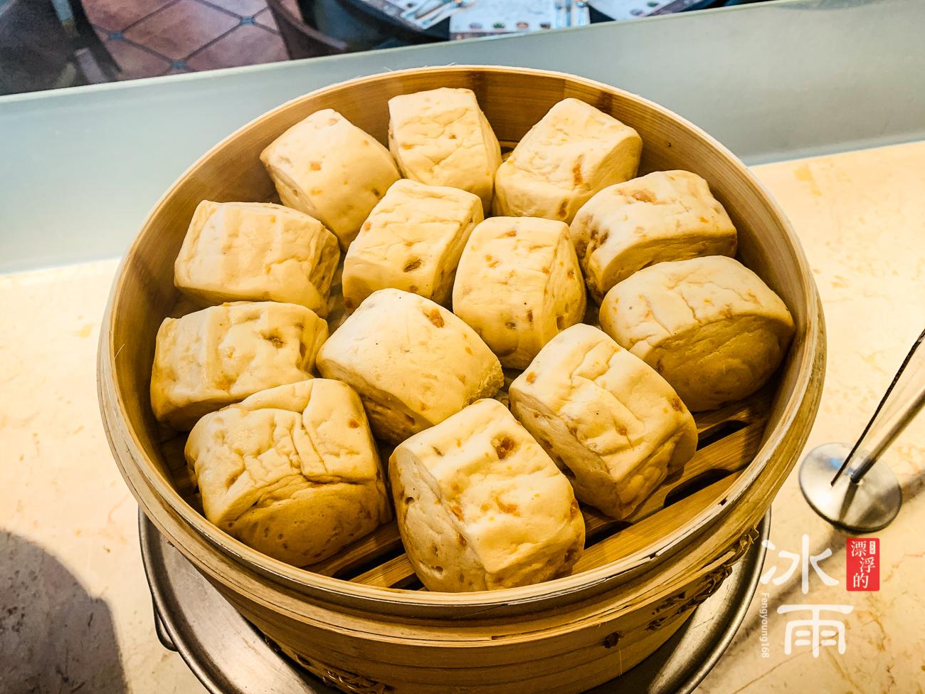 陽明山天籟溫泉會館|早餐菜色|饅頭